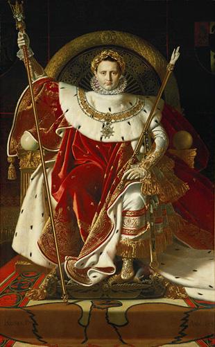Portrait de Napoléon Ier sur le trône impérial