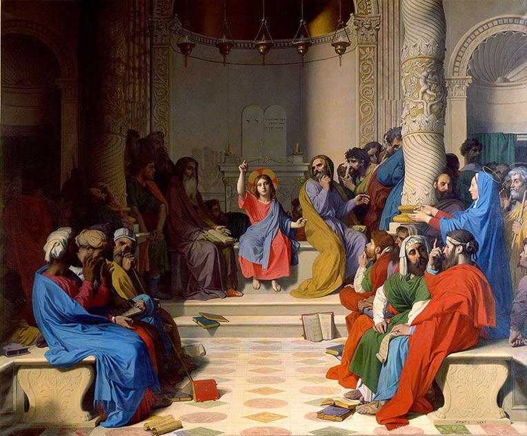 """Résultat de recherche d'images pour """"Jésus au milieu des docteurs Ingres"""""""