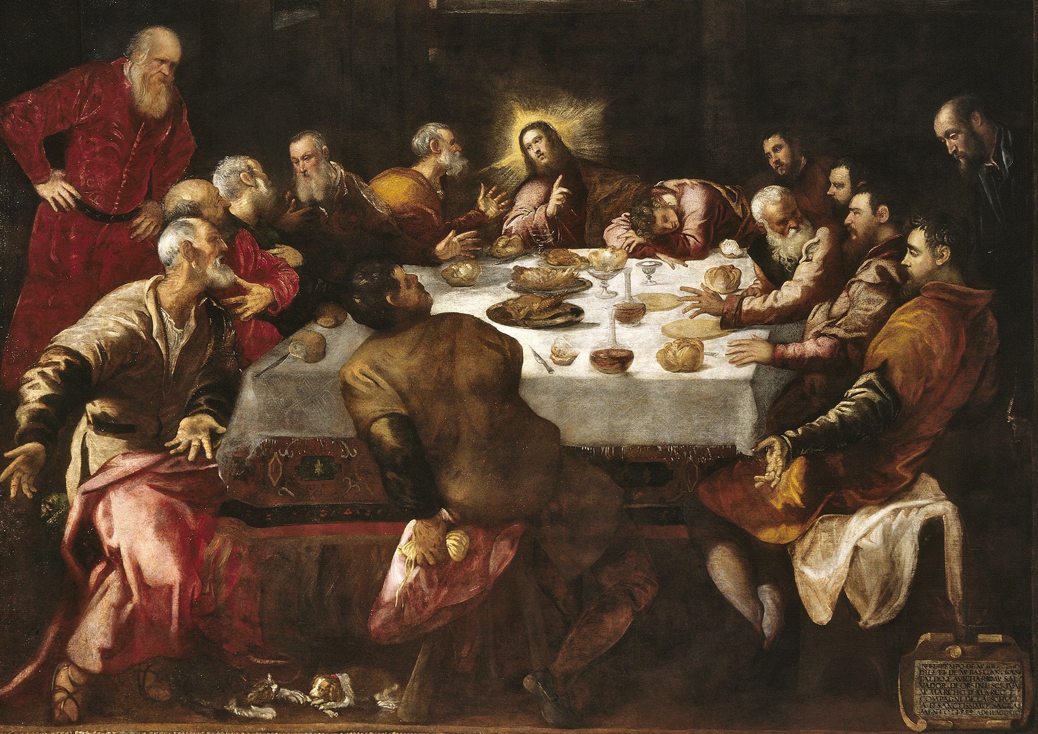 Compare LAST SUPPER done by Dirk Bouts, Leonardo Da Vinci, Albrecht Durer and Tintoretto